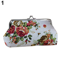 Load image into Gallery viewer, Women's Coin Purse Money Bag Case Wallet Keys Card Pouch Big Flower Pattern Hasp