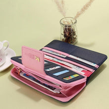 Load image into Gallery viewer, Wallets Brand PU Leather Long Leather Women Clutch Bag Hasp Zipper Wallet Card Holders Clutch Money Bag Carteira