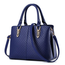 Load image into Gallery viewer, Women leather handbags New handbag solid black shoulder single oblique cross ladies bag