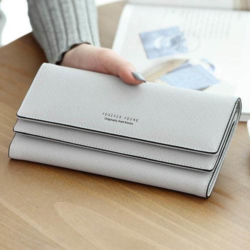 Women's purse women wallet women card holder coin purse coin female wallet long large capacity wallet female clutch 3 folders