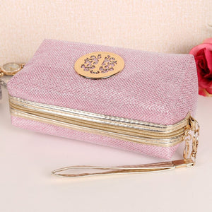 Glitter Travel Cosmetic Bag Women Fashion Multifunction Makeup Pouch Toiletry