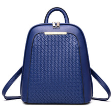Load image into Gallery viewer, Rhombic Grid Faux Leather Tote Women Backpack Zippered Fashion Shoulders Bag