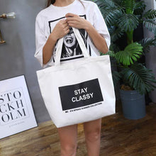Load image into Gallery viewer, Fashion Women Canvas Eco Handbag School Travel Shopping Tote Shoulder Bag