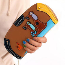 Load image into Gallery viewer, LY.SHARK Cartoon dog women purse bag designer wallets famous brand women wallet long money clip dollar price zipper coin pockets