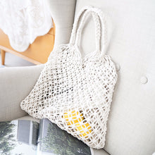 Load image into Gallery viewer, Hand Nets Woven Bag Women's Bag 2019 New Style Straw Bags Holiday Beach Bag Summer Knit Bag Large Capacity Soft Southeast Asia