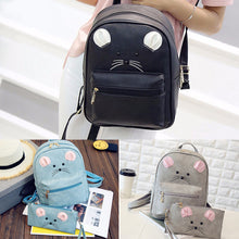 Load image into Gallery viewer, Fashion Women Faux Leather Shoulder Backpack School Bag Satchel Travel Handbag