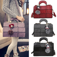 Load image into Gallery viewer, Boston Style Women Tote Shoulder Crossbody Bag Nine Patch Messenger Handbag