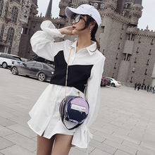 Load image into Gallery viewer, Round Letter Printed Perfume Bottle Pu Leather Casual Handbag Chain Purse Shoulder Bag
