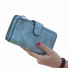 Load image into Gallery viewer, Brand Leather Women Wallet High Quality Design Hasp Solid Color Card Bags Long Female Purse 8 Colors Ladies Clutch Wallet