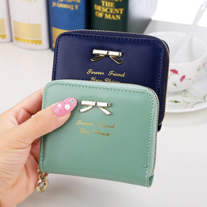 New Fashion Design Women Coin Case Cute Hot Wallet Bifold Short Mini Zipper Around Purse PU Leather Good Quality Coin Pouch