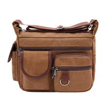 Load image into Gallery viewer, Retro Canvas Large Capacity Men's Outdoor Casual Single Shoulder Crossbody Bag