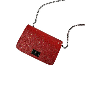 Women Fashion Sequins Single Chain Strap Crossbody Shoulder Messenger Flap Bags