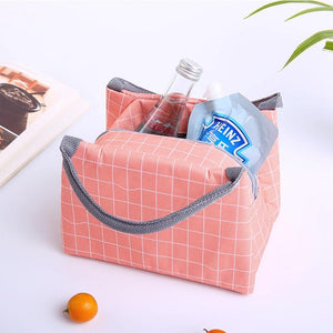 Animal Flamingo Lunch Bags Women Portable Functional Canvas Stripe Insulated Thermal Food Picnic Kids Cooler Lunch Box Bag