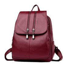 Load image into Gallery viewer, Laptop Backpack Women's Leather Luxury Backpack Women Fashion Backpack Satchel School Bag