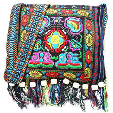 Load image into Gallery viewer, Hmong Vintage Chinese National Style Ethnic Shoulder Bag Embroidery Boho Hippie Tassel Tote Messenger