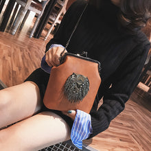 Load image into Gallery viewer, Messenger Bags for Women PU Leather Tassel Fashion Frame Bag 2018 New Arrival INS Style Crossbody Chains Shoulder Bags