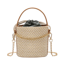 Load image into Gallery viewer, Fashion Long Chain Weaving Drawstring Shoulder Bag Travel Handbag Buckle Pouch