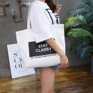Fashion Women Canvas Eco Handbag School Travel Shopping Tote Shoulder Bag