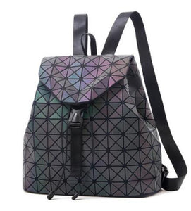 Laser Luminous Backpack Shoulder Bag Folding Student School Bags  Bao Backpack