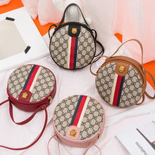 Load image into Gallery viewer, Women Shoulder Bags Tiger Head PU Leather Handbags Bags Ladies Party Fashion Round Popular Shape Printing Girls Crossbody Bag