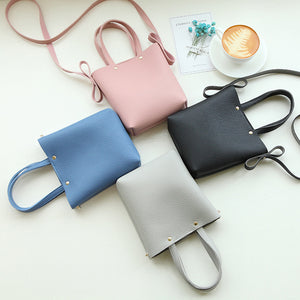 Fashion Women Mini Faux Leather Solid Color Cross Body Phone Bag Coin Purse Gift