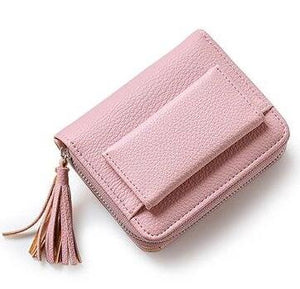 Tassel Women's Wallets Lady Mini Card Holder Wallet Female Credit Card Coin Purse Brand 3 Fold