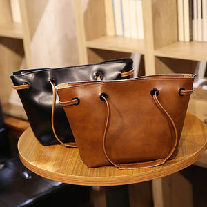 4 Pcs/Set Faux Leather Women Purse Card Holder Shoulder Bag Crossbody Phone Bag