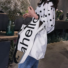 Load image into Gallery viewer, Canvas Women's Fashion Letters Portable Tote Bag Broadband Wild Large Capacity Handbag