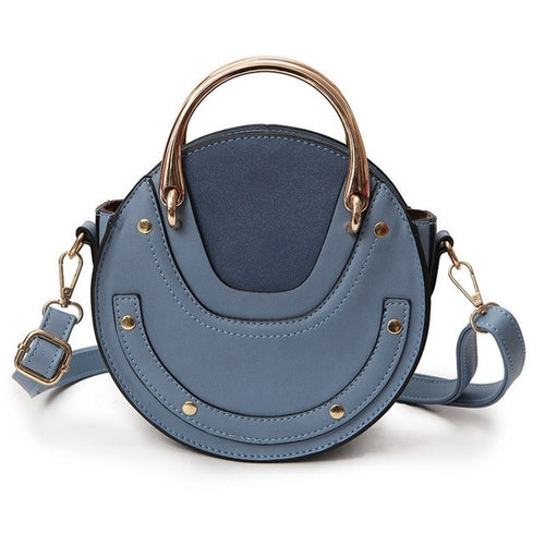 Mini PU Leather Handbag One Shoulder Cross-body Bag Small Round Package Women bag Messenger Bags