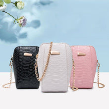 Load image into Gallery viewer, Women Girl Faux Leather Cross Body Shoulder Phone Zipper Chain Mini Bag Gift