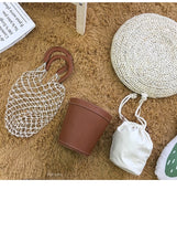 Load image into Gallery viewer, Beach bag nets bucket bags hollow Braided rope net bag women summer totes bag