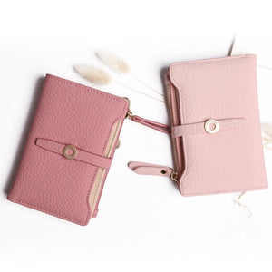 Latest Lovely Leather Short Women Wallet Fashion Girls Change Clasp Purse Money Coin Card Holders wallets Carteras