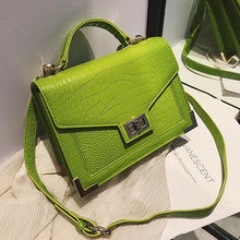 Load image into Gallery viewer, Retro Fashion Female Square bag  Quality PU Leather Women bag Crocodile pattern Tote bag Lock Shoulder Messenger Bags