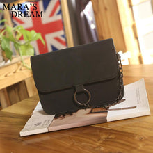Load image into Gallery viewer, Leather Small Flap Women Crossbody Bag Chain Messenger Shoulder Bag Lady Female Handbags