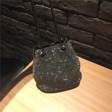 Load image into Gallery viewer, Female Diamond Handbag Vintage Crystal Design Evening Bag Wedding Party Bride Clutch Velour Bag