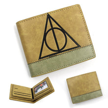 Load image into Gallery viewer, Harry Potter Deathly Hallows Short Wallet PU Purse