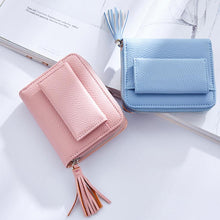 Load image into Gallery viewer, Tassel Women's Wallets Lady Mini Card Holder Wallet Female Credit Card Coin Purse Brand 3 Fold