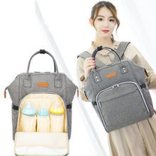 Load image into Gallery viewer, Mummy Maternity Diaper Bag oxford Baby Travel Backpack Baby Stroller  Bottles Storage Nipple Diaper Organizer Nursing Bag