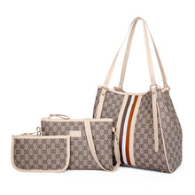 Load image into Gallery viewer, Women's Handbags Ladies Shoulder Bag PU Fashion Hit Color Printing Bottom Wear-resistant Rivets Large Capacity