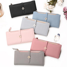 Load image into Gallery viewer, Latest Lovely Leather Long Women Wallet Fashion Girls Change Clasp Purse Money Coin Card Holders wallets Carteras