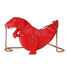 Load image into Gallery viewer, INS Fashion Dinosaur Rivet Messenger Chain Shoulder Bag Sweet Cute Girl Pink Bag Handmade Small Travel Bags Crossbody Bags