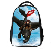 Load image into Gallery viewer, 16-inch Boys Bags Kids Backpack How to Train Your Dragon Bag Pupil Book Bag Age 7-13 Children School Bags For Teenagers