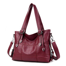 Load image into Gallery viewer, Summer Retro Large Women Handbags Fashion PU Leather Shoulder Bag Female Large Tote Handbag Ladies Shoulder Bag