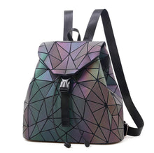 Load image into Gallery viewer, Laser Luminous Backpack Shoulder Bag Folding Student School Bags  Bao Backpack