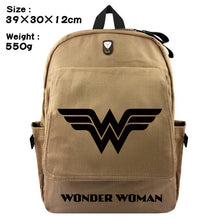 Load image into Gallery viewer, Wonder Woman Canvas Travel Backpack Bag