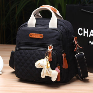 Multifunction Diaper Bag Backpack Mother Care Hobos Bags, Baby Stroller Bags Nappy Bag for Mom with Horse Ornaments