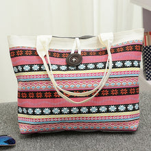 Load image into Gallery viewer, Women Handbag National Wind Printed Canvas Tote Casual Beach Bags Women Shopping Bag Handbags Bolsos Mujer