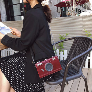 Fashion Camera Shape Clutch Shoulder Bag for Women 2019 luxury handbags Personalized Design Ladies Casual Messenger Bag Purse