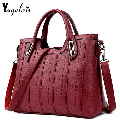 European and American Style Women Totes Leather Ladies Clutch Single Shoulder Bags Crossbody Bags Soft Fashion Handbags