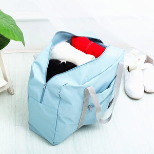 Waterproof Nylon Travel Bags Women Men Large Capacity Folding Duffle Bag